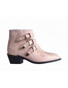 CARMEN Gold Studded Ankle Boots