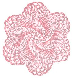 Vintage Clip Art - Crocheted Doily Rose - The Graphics Fairy