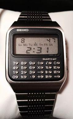 5cd19db3fe78 Seiko C-153 1978 calculator watch