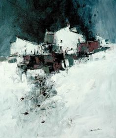 artist: james somerville(Scottish, b.1936) Early Snow acrylic on canvas via more