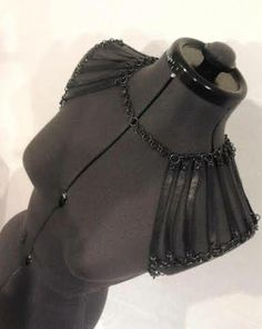 Broken Birds leather and chain bolero https://www.facebook.com/broken.birds.designs