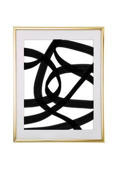 Free Printable Abstract Black Art from @chicfetti - easy wall art diy
