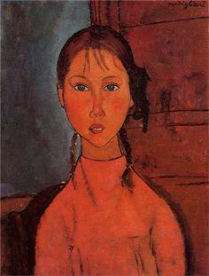 Portrait of Elena Pavlowski - Amedeo Modigliani