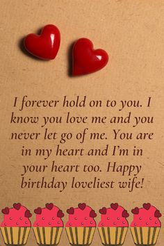 Loveliest happy birthday wishes for your wife. Tell her how much you love her with these lovely wishes and messages. Birthday Wishes For Wife, Romantic Birthday Wishes, Wishes For You, Romantic Quotes, Love Her, Messages, Text Posts, Text Conversations