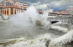Mareas vivas en el Puente de San Anton - Bilbao Anton, Niagara Falls, Cities, San, Mansions, House Styles, Nature, Travel, Bridges
