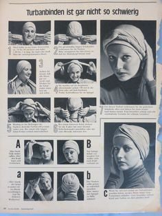 how to wrap a turban -- easy German instructions