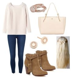 """""""Casual"""" by stylishdirectioner on Polyvore featuring River Island, Rebecca Taylor, Tory Burch, Lola Rose, Astley Clarke, Pink, Boots, Sweater and jumper"""
