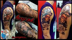 #tattoo #wolfhead #wolf #women #colour #warrior #national #poland #buszi #ink #poznan
