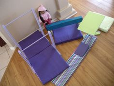 Doll Deluxe Gymnastic Set for American Girl Doll McKenna - Uneven Bars - Balance Beam - Vault - Floor Routine Mat