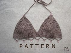 Crochet Bikini Pattern. $4.00, via Etsy.