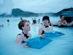Picture of waitresses at the Blue Lagoon, Iceland