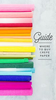 Crepe Paper Resource Guide - The House That Lars Built Crepe Paper Crafts, Paper Flowers Craft, Crepe Paper Flowers, Flower Crafts, Diy Flowers, Fabric Flowers, Tissue Paper, Paper Crafting, Crepe Paper Decorations