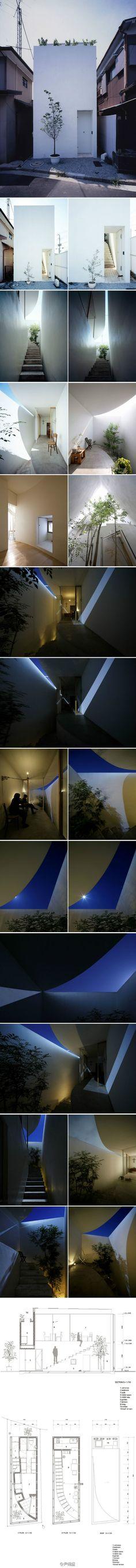 保坂猛(Takeshi Hosaka)Love House,横浜市,33.16平米,建築面積18.96平米。
