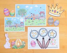 Materialwiese: Lesespur für Ostern