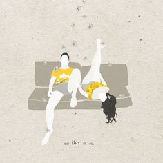 'So this is us.' Illustration by Carla Martinez Sastre This Is Us, Snoopy, Illustration, Movies, Movie Posters, Fictional Characters, Art, Illustrations, Blue Prints