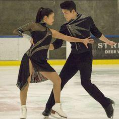 Maia and Alex Shibutani pose at the beginning of their performance at the USOC 2013 #TeamUSA Media Summit. #FigureSkating