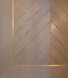 grey ash white wood floors with gold or brass inlay and parquet style on the inside Timber Flooring, Parquet Flooring, Wood Paneling, Hardwood Floors, Flooring Ideas, Mahogany Flooring, Wood Parquet, Planchers En Chevrons, Parquet Chevrons