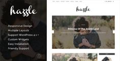 nice Hazzle - Private &amp Travel Weblog Theme (Private)