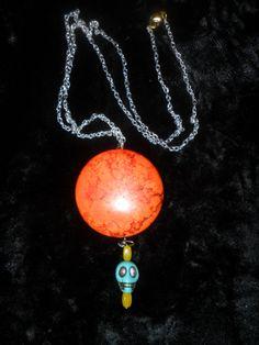 Sunset Skull Day by AmalgamationsbyD on Etsy, $34.00