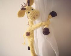 Cheeky Monkey curtain tie back crochet pattern by ThoresbyCottage