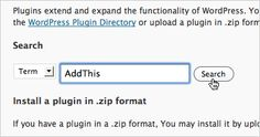 WordPress AddThis plugin and instructions