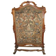 $1295.00 18th C. Needlepoint  Screen | From a unique collection of antique and modern fireplace tools and chimney pots at http://www.1stdibs.com/furniture/building-garden/fireplace-tools-chimney-pots/