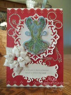 Heartfelt Creations   Elegant Angel Card 8
