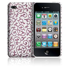 Case-Mate White/Pink Ivy Snap-on Cover for Apple iPhone 4 / 4S