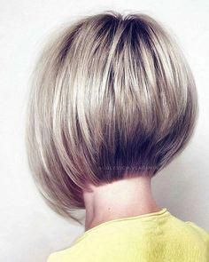 Excellent Pictures Blonde-Stacked-Bob-Hair Popular Bob Hairstyles 2019 Thoughts Who developed the Bob hair? Bob has been primary the group of tendency hairstyles for decades. Stacked Bob Hairstyles, Curly Bob Hairstyles, Trending Hairstyles, Straight Hairstyles, Curly Hair Styles, Fashion Hairstyles, Woman Hairstyles, Blonde Hairstyles, Bridal Hairstyles