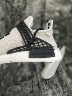 Off-White x Adidas NMD HU Pharrell Human Race   White Black  a3679539f34
