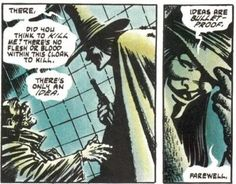 A scene from Alan Moore's V for Vendetta graphic novel V For Vendetta Book, V For Vendetta Comic, V For Vendetta Poster, V For Vendetta Quotes, V Pour Vendetta, Comic Book Artists, Comic Books Art, Ideas Are Bulletproof, The Fifth Of November