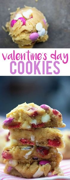 Valentine's Day Cookies - so easy and these are the thickest, chewiest cookies ever! My favorite! Valentine's Day Cookies - so easy and these are the thickest, chewiest cookies ever! My favorite! Valentine Desserts, Valentines Day Cookies, Valentines Baking, Köstliche Desserts, Dessert Recipes, Valentine Cookie Recipes, Kids Valentines, Valentines Day Dinner, Valentine Food Ideas