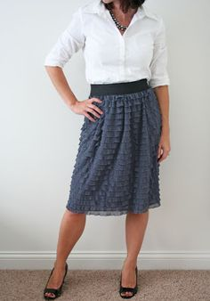 V and Co.: V and Co: how to: sewing with ruffle fabric: make a ruffle skirt