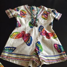 Vintage amazing Vintage embroiled romper with wrap joyful hippie colors , original free people 70s true vintage ❤️❤️ Vintage Other