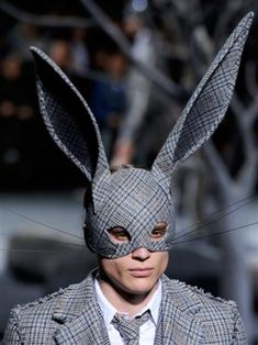 I'm READY For FALL!! I hope Bergdorf remembers I have a big head! Fashion forward rabbit ears for the catwalk. Designer: Thom Browne--------PDUBOKC---fashionista
