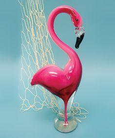 Loving this Flamingo Glass Statue on #zulily! #zulilyfinds