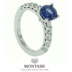 One of the most well known #blue gem is the #sapphire! Great for rings as it's hardness is only second to the diamond