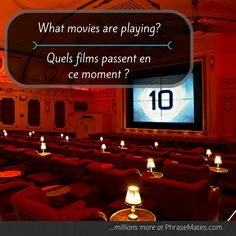 Do you like going to the movies? This is a key phrase for those who are mad about movies.