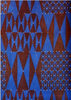 1963 fabric by Friedlinde de Colbertado Dinzl Textile Texture, Textile Prints, Textile Patterns, Color Patterns, Textile Design, Fabric Design, Print Patterns, Geometric Patterns, African Textiles