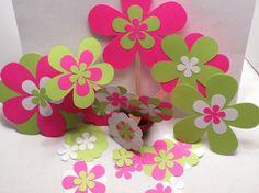 Scrapbook Assorted Flowers-Flowers Die Cut by RCreationsandDesigns