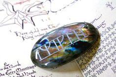 Labradorite Kili's Rune Stone Talisman The by BijouxMalou on Etsy
