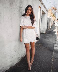 Little white dress from showpo / australian blogger