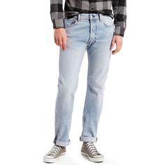 Men's Levi's® 501® Original Fit Stretch Jeans, Size: 40X30, Light Blue