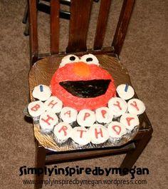 Homemade Chocolate Cake Elmo Cake