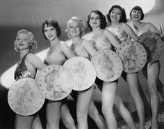 Bonnie Bannon (June 23, 1913 - February 14, 1989) Gold Digger (of '33), third from right
