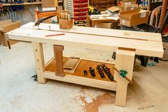 Benchcrafted-inspired Roubo workbench