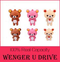 top quality Rilakkuma cute bear U Disk  4GB 8GB 32GB 64GB usb Flash Drive 512GB memory stick pen drive pendrive flash card 128GB