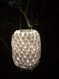 solar powered lantern, crafts, how to, Voila Lantern in my front yard last night