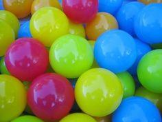 Make a colourful bouncy ball. Use Borax, school glue and cornstarch.