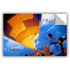 ArtAppealz Linda Parker I Believe I Can Fly Removable Wall Art, Size: 32 x 48, Orange